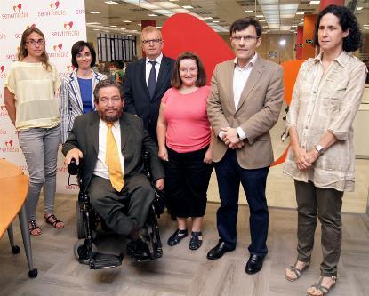 Carlos Ríos Espinosa, experto del Comité de la ONU sobre los Derechos de las Personas con Discapacidad, durante un encuentro en Servimedia