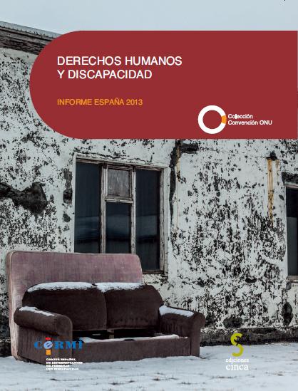 """Portada de la publicación """"Derechos humanos y Discapacidad. Informe España 2013"""""""
