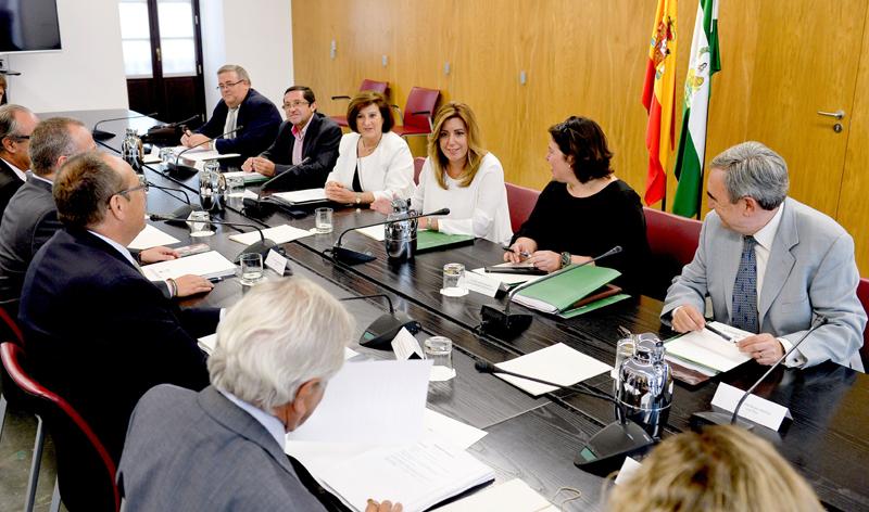 El presidente de CERMI-Andalucía se reúne con Susana Díaz para analizar la agenda de la discapacidad