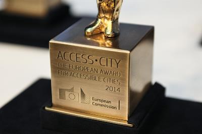 Detalle del galardón otorgado el año pasado en el premio 'Capital Europea de la Accesibilidad'