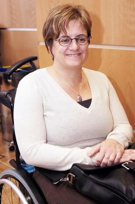 Marta Valencia, presidenta de la Comisión de la Mujer del CERMI  Aragón y de COCEMFE Aragón. Foto: Jorge Villa