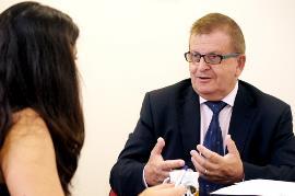 José Mª Sánchez Monge, presidente de la Confederación Española de Agrupaciones de Familiares y Personas con Enfermedad Mental (FEAFES)