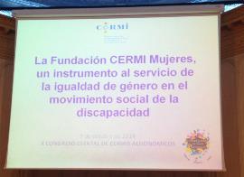 Presentación en Pamplona de la Fundación CERMI Mujeres el jueves pasado