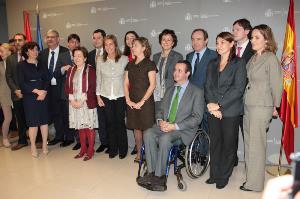 Imagen del Ministerio de Sanidad, Servicios Sociales e Igualdad, tras la toma de posesión de Ignacio Tremiño como director general de Discapacidad